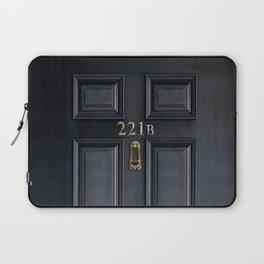 Haunted black door with 221b number Laptop Sleeve
