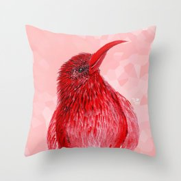 Hello There Red Bird Throw Pillow