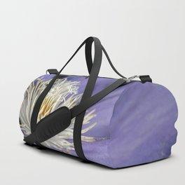 Blue clematis close up Duffle Bag