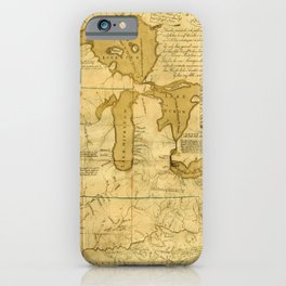 Map Of Great Lakes 1785 iPhone Case