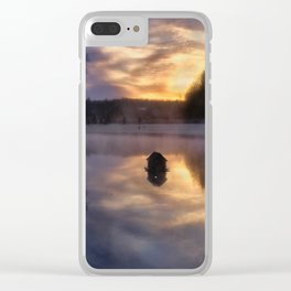 Early One Morning at the Pond Clear iPhone Case