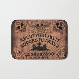 Sugar Skull ouija board Bath Mat