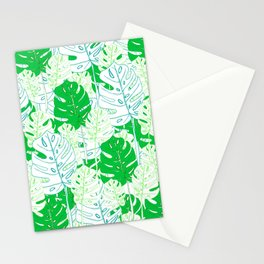Banana Leaf in Teal Stationery Cards