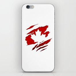 Canadian Red Flag Pride iPhone Skin