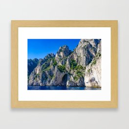 The White Grotto of the island of Capri, Italy off Naples and the Amalfi Coast Framed Art Print