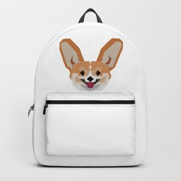 Cardigan Corgi face Backpack