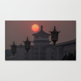 Sunset in Beijing Canvas Print