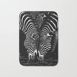 zebras Bath Mat