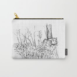 Fireside Flowers Carry-All Pouch