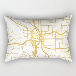 PORTLAND OREGON CITY STREET MAP ART Rectangular Pillow