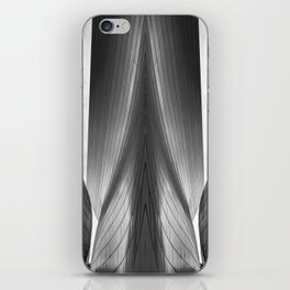 Architectural abstract captured in black and white from low perspective rendering a dramatic view. iPhone Skin