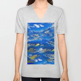 CLOUDS ABSTRACT Unisex V-Neck