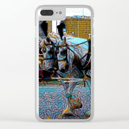 New Orleans Jazz Funeral Second Line Parade Clear iPhone Case