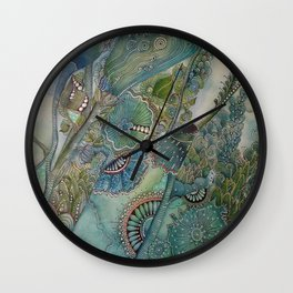 Ocean Botanical Wall Clock