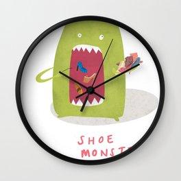 Shoe Monster Wall Clock