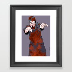 Zombone Framed Art Print
