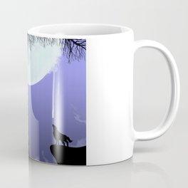 wolf drinking moon Coffee Mug