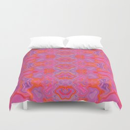 Mad pink marble 2 Duvet Cover