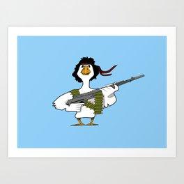 John Duck Rambo Art Print