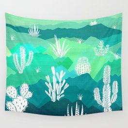 Mountain Cactus Wall Tapestry