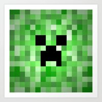 Creepy Creeper! Art Print