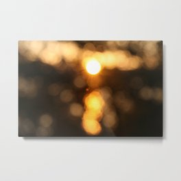 Pinhole Sunset Metal Print