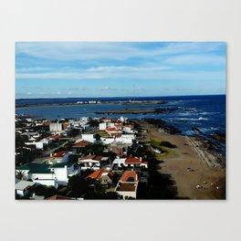 Playa, color, textura. Canvas Print
