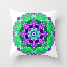 Mandala in nostalgic colors Throw Pillow