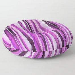 Lavender, Iris and Grape Stripy Pattern Floor Pillow