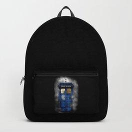 Haunted Halloween Blue phone Box Backpack