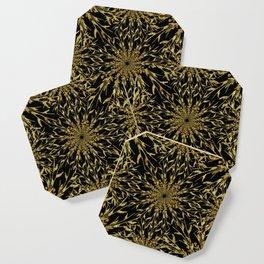 Black Gold Glam Nature Coaster