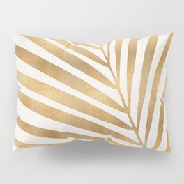 Metallic Gold Palm Leaf Pillow Sham