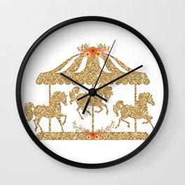 Glitter Carousel Wall Clock