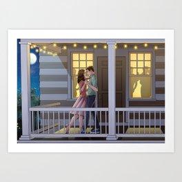Fitzimmons - Dancing at Night Art Print
