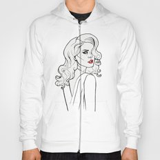 Black White Red Lana LDR Hoody