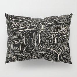 Black and White Graffiti Art Tribal  Pillow Sham