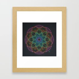 Bright colorful Mandala Framed Art Print