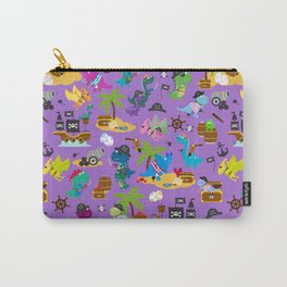 Dinosaur Pirates Purple Pattern Carry-All Pouch
