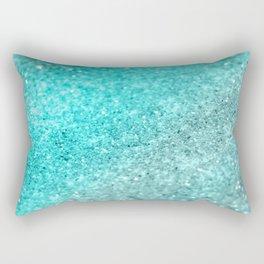 Aqua Teal Ocean Glitter #1 #shiny #decor #art #society6 Rectangular Pillow