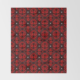 Red Gothic Throw Blanket