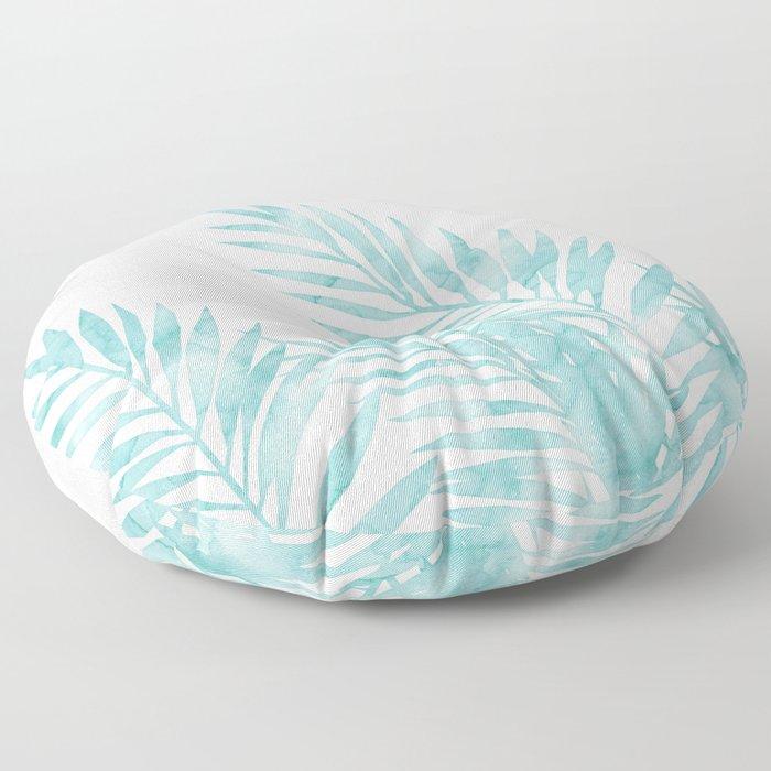 Palm Leaves Island Paradise Floor Pillow