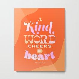 Proverbs 12:25 Metal Print