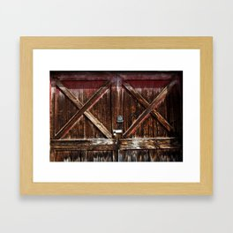 Barn Doors Framed Art Print