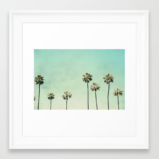 Palm Trees Framed Art Print by maddenphotography | Society6