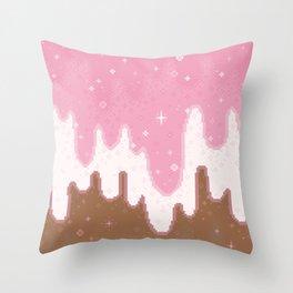 Summer Sweets:  Neapolitan Galaxy Throw Pillow