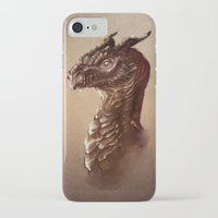 smaug iPhone & iPod Cases featuring Smaug the Golden by SUIamena
