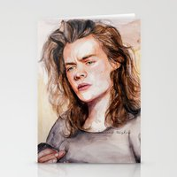 coconutwishes Stationery Cards featuring Harry watercolors III by Coconut Wishes