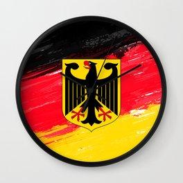 Germany's Flag Design Wall Clock