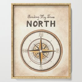 Finding My True North Serving Tray