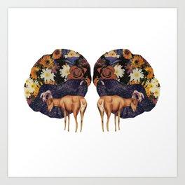 Double deer Art Print